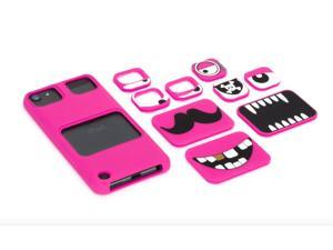 Faces for iPod touch (5th/ 6th gen.), pink,Swap out eyes & mouths for a case with real personality