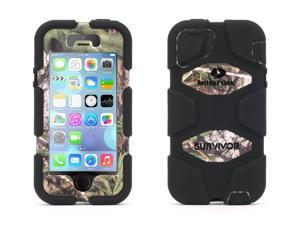 iPhone 5/5s, iPhone SE Rugged Case, Survivor All-Terrain Mossy Oak Camo, Obsession,Military-Duty Case