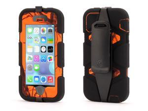 Blaze/Black Survivor in Mossy Oak Camo for iPhone 5/5s, touch ID Compatible,Military-Duty Case