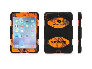 iPad mini 1/2/3 Rugged Case. Survivor All-Terrain in Mossy Oak Black/Blaze,Military-Duty Case for iPad mini with Stand