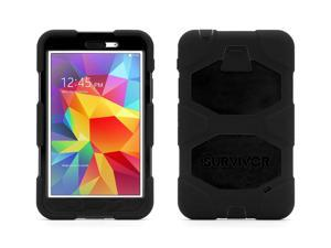 Black Survivor All-Terrain Case + Stand for Samsung Galaxy Tab 4 7.0,The most protective case possible for everyday use