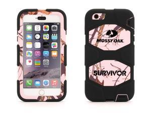 iPhone 6 Plus/6s Plus Rugged Case, Survivor All-Terrain Mossy Oak Pink Breakup,Proven protection with Rotating Belt Clip