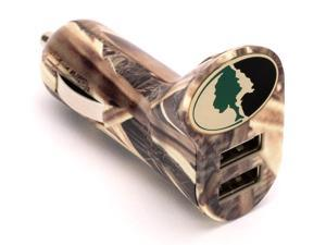 Dual USB Car Charger in Mossy Oak Camo,Charge your smartphone in your vehicle