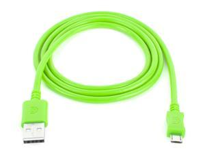 3 ft Micro-USB Charge/Sync Cable, Green,USB to micro-USB charge cable