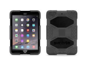 Smoke/Black Survivor All-Terrain Case + Stand for iPad mini, mini 2, and mini 3,Military-duty case with stand- Touch ID