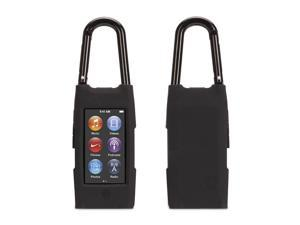 Black Courier Clip Carrying case for iPod nano (7th gen.),Case with detachable carabiner