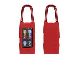 Red Courier Clip Carrying Case for iPod nano (7th gen.),Case with detachable carabiner