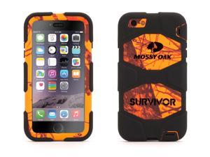 Blaze Black Survivor All-Terrain in Mossy Oak Camo for iPhone 6 Plus/6s Plus,Real-world proven protection with Rotating Belt Clip