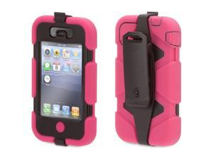 Pink/Black Heavy Duty Survivor All-Terrain Case for  iPhone 4/4s,Extreme-duty case for iPhone 4 and iPhone 4S