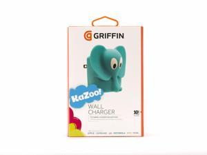 KaZoo Elephant USB Wall Charger,It even holds your USB cable for you in its trunk!