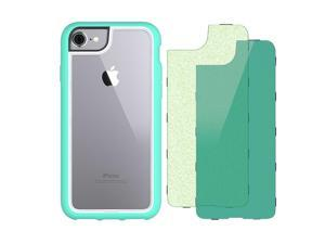 iPhone 7 Protective Case, Survivor Adventure, with 2 Back Plates, Island Green/Glitter,8 foot Drop-Protected, Self Healing BonBon Back Plate
