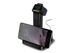 Griffin WatchStand Charging Dock [Dual Stand] [Cable Management] for Apple Watch and iPhone