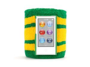 Green and Yellow SportCuff Wristband case for iPod nano (7th gen.),Absorbent wristband for iPod nano (7th gen.)