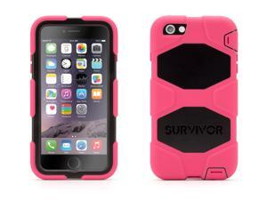 Pink/Black Survivor All-Terrain Case + Belt Clip for iPhone 6 Plus/6s Plus,Mil-spec tested, real-world proven protection