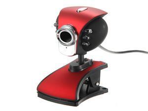 USB 50M 6 LED Night Vision Webcam Camera Web Cam With Mic for Desktop PC Laptop