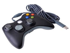USB Wired Game JoyPad Controller For MICROSOFT Xbox360 Xbox 360 Slim PC Windows 7 Black