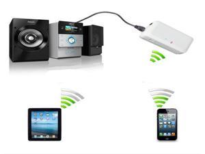 White Protable Wireless Mini Bluetooth Music Audio Receiver Adapter For iPod iPhone 5 30 Pin Galaxy S3 S4 33 Feet