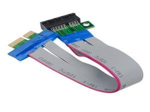PC PCI-Expres PCI-E 1X Riser Card Extender Extension Ribbon Flex Relocate Cable