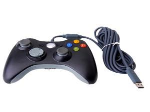 NEW Black Wired USB Game Pad Controller For MICROSOFT Xbox360 Xbox 360 PC Windows 7 XP