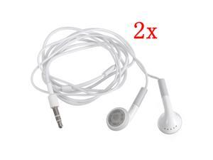 2pcs 3.5mm Headphone Earphone For iPhone 4 4S iPad 3 2 SAMSUNG Galaxy i9100 HTC MP3