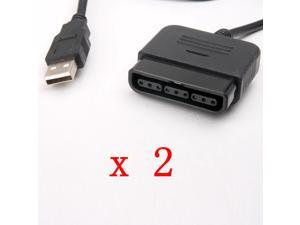 2pcs PC USB PS2 to PS3 Controller Adapter Converter For PlayStation 2 3 PS2 PS3