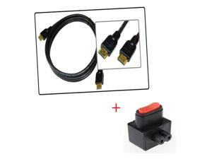 AV Cable HD 1080P V1.3 1.3 Hdmi  6 Ft Gold Plated For PS3 HDTV + Power Switch Adapter Converter For Sony PS3 Slim Console
