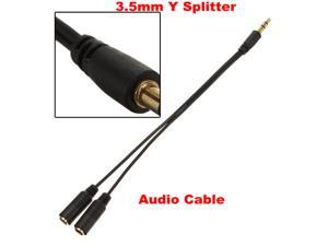 3.5mm Extension Earphone Headphone Audio Y Splitter Cable Adapter Jack Male to 2 Female M/F for iPod iPhone 5S 5C 5 Mp3 Mp4 Sony PSP