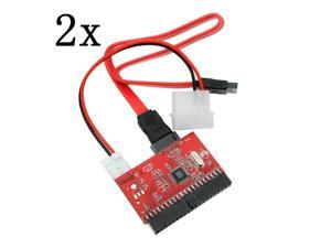 2 pcs 3.5 IDE HDD to SATA 100/133 Serial ATA Converter Adapter +Cable