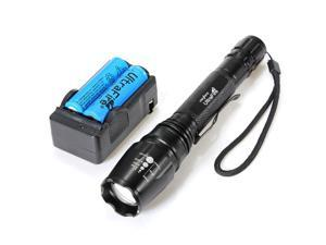 UltraFire 2000 Lumen CREE XML T6 LED Zoomable Hunting Flashlight - 5 Mode + Battery+ Charger