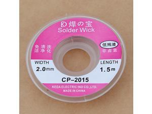2.5ft 2.0MM Desoldering Copper Braid Solder Remover Spool Flux Wick Wire Cable