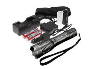 UltraFire 1800LM CREE XML T6 LED Zoomable Flashlight - 18650 Battery AC/Car Charger