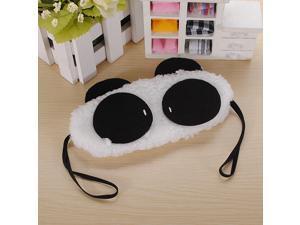 Fluffy Panda Face Eye Travel Rest Sleep EyeShade Eyepatch Lightproof Sleeping Mask Blindfold Blinder Portable  Relaxation Nap Cover Christmas Gift