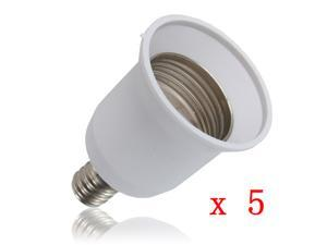 5X E12 to E27 Candelabra Base Bulb Lamp Light Screw Socket Adapter Converter Led