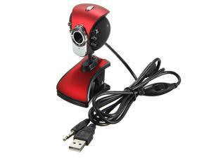 USB 2.0 6 LED Night Vision Webcam Camera Web Cam 50M  With Mic for Desktop PC Laptop Windows ME / 2000 / XP / Vista(32-bit) / Win7