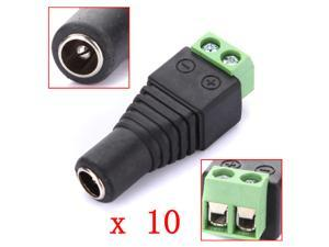 10x 2.1 x 5.5mm DC Power Female Plug Jack Adapter Connector Socket for CCTV Camera