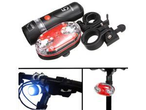 Cycling Bike Head & Tail Light Set Front Rear Waterproof Flashlight Lamp