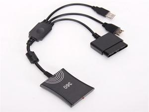Adapter Converter Console USB Compatible with PS3 or PS2 to Xbox 360 Controller