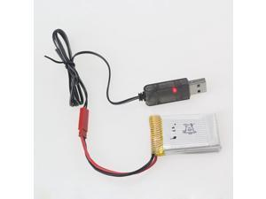 3.7V 500mA Output 1S Lipo Lithium Battery USB Cable Charger Red JST Female Head