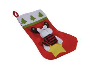 Christmas Sock Stockings Santa Claus Snowman Sacks Decorations Kids Gift Tree Hanger