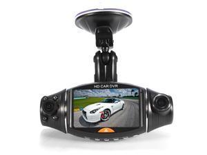 "270° 2.7"" TFT Dual Lens Dash HD DVR Car Camera Cam Video Recorder G-sensor GPS"