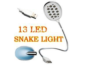 USB 13 LED Flexible Light Desk Lamp For Compucter Laptop PC Apple Macbook
