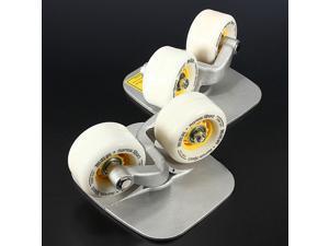 Portable Outdoor Freeline Metal Drift Skateboard Board Skate Wheels Matte