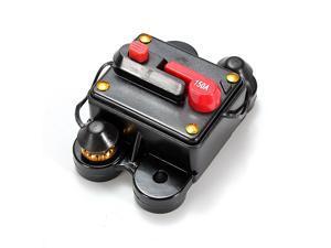 Car Marine Boat Bike Stereo Audio 12V-24V DC Inline Circuit Breaker Fuse 150A