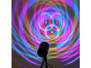 3W LED Crystal Voice-activated RGB Stage Rotating Light Lamp Bulb DJ Lighting Disco KTV Bar Club Show Party 110-240V