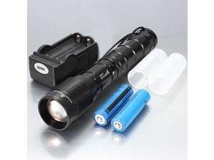 UltraFire 18650 3600LM Cree XM-L T6 LED Zoomable Waterproof Flashlight + Charger Set