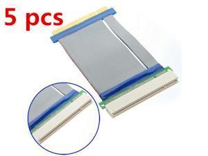 5 pcs 32 Bits PCI Riser Slot Riser Card Flex Flexible Ribbon Extender Extension Cable Adapter Converter