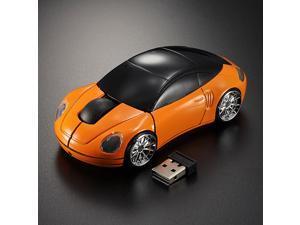 Mini 3D 2.4G Optical USB Wireless Car Mouse Mice 1600DPI For PC Laptop Mac Win7