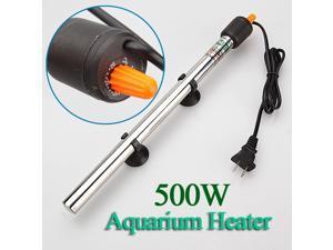 Submersible Automatic Aquarium Heater Fish Tank Pond Water Heater up to 250L 500W Temp Temprature Control