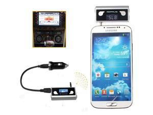 3.5mm Car Wireless Handsfree TF FM Transmitter Charger for iPhone 3GS/4/4S/5/5S/5C iPod sumsung Galaxy note 2 S4 S3 MP3 MP4