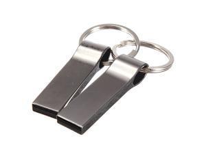 1/2/4/8/16/32G GB Metal USB 2.0 Keychain Flash Drive Memory Storage Thumb Stick Pen